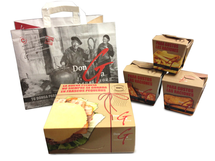 Packaging Restaurantes Donga