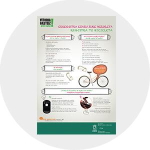 Cartel Campaña Informativa sobre como candar la bicicleta