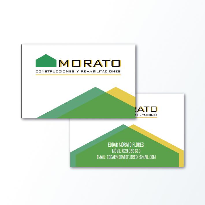 Diseño de tarjeta de visita para construcciones Morato