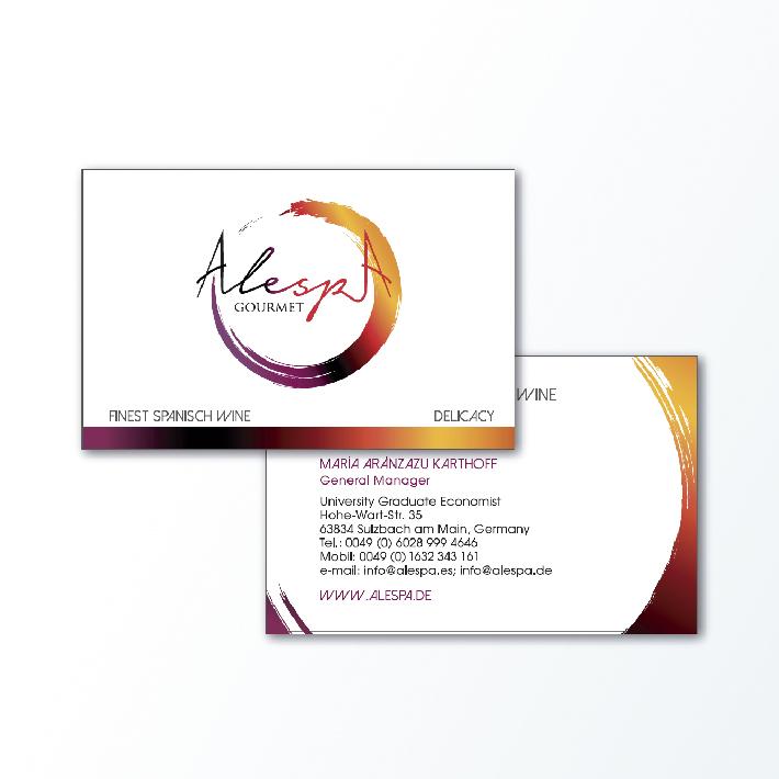 Diseño de tarjeta de visita para Alespa