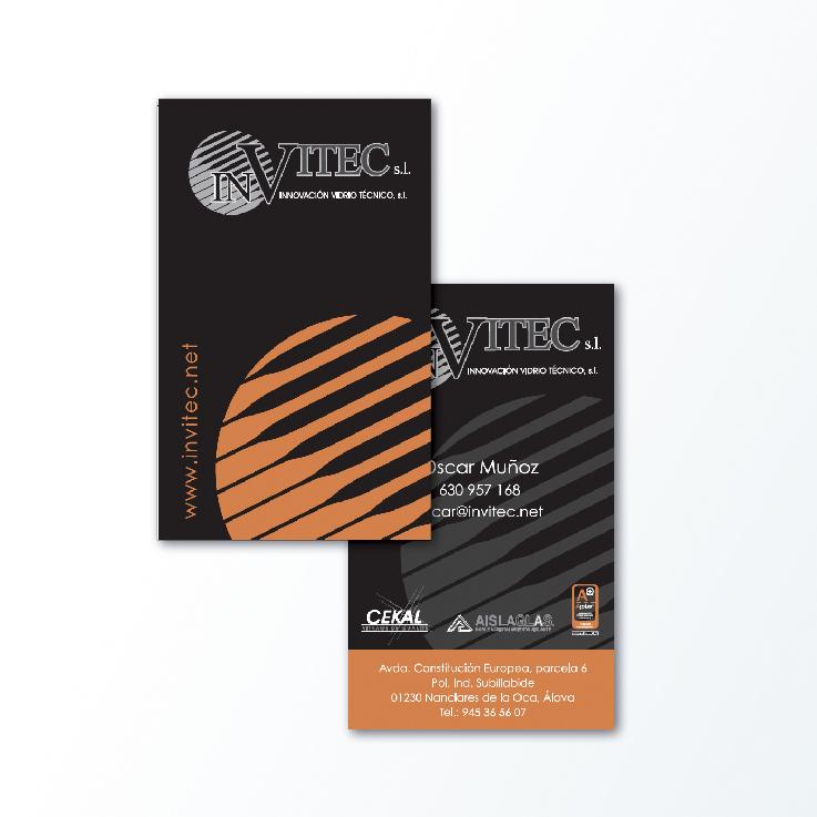 Diseño de tarjeta de visita para Invitec