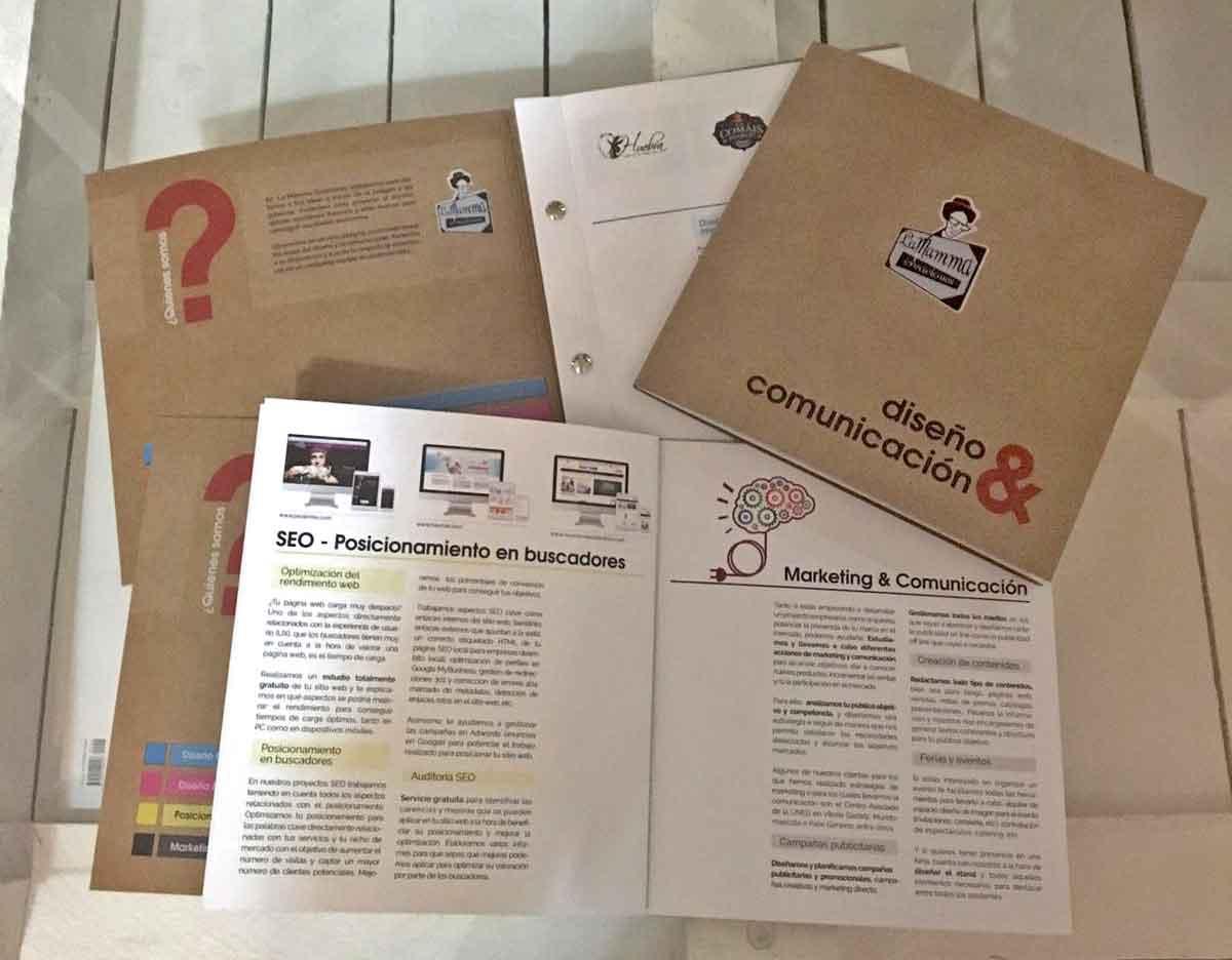 catálogo corporativo de La mamma Creaciones