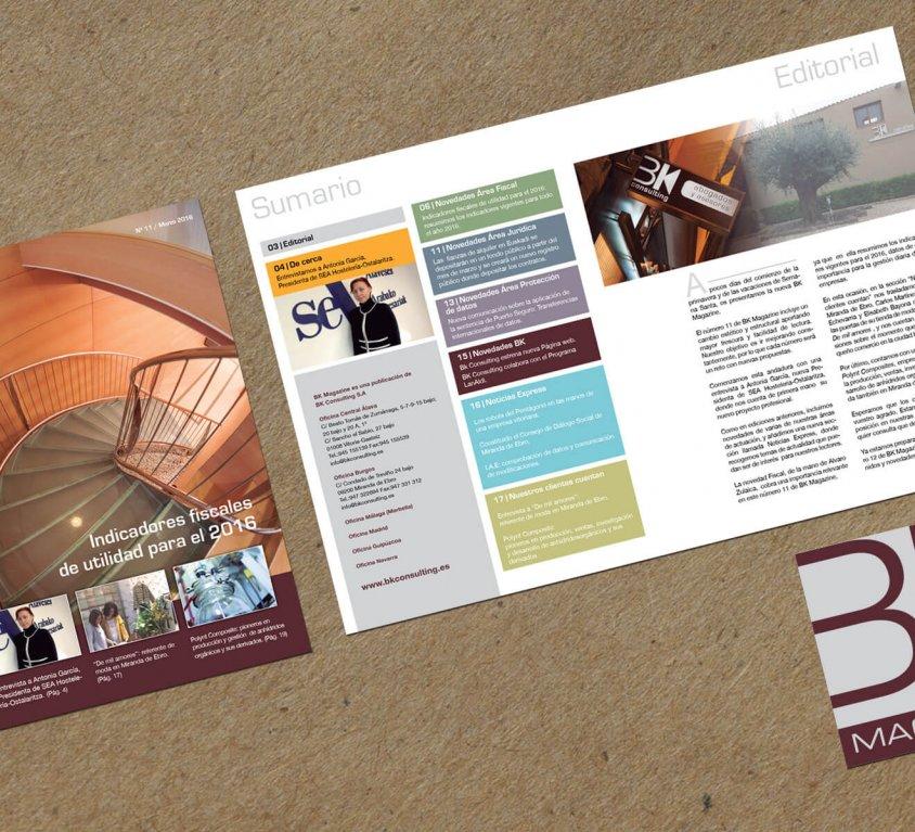 Diseño y maquetación de revista BK Magazine