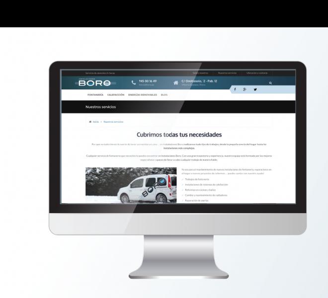 Web instalaciones Boro