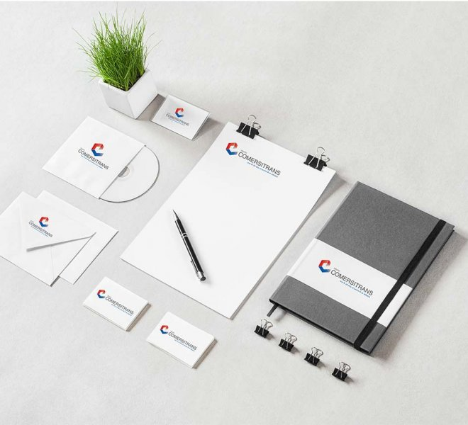 Diseño de imagen corporativa Grupo Comersitrans