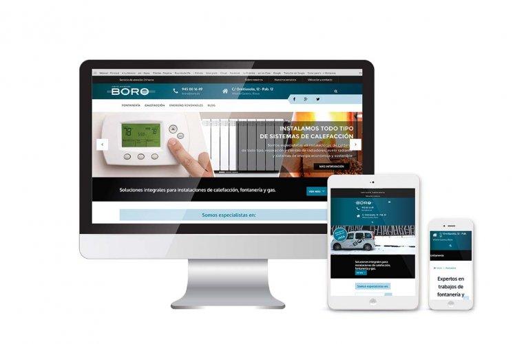 Diseño, desarrollo y posicionamiento web para Instalaciones Boro