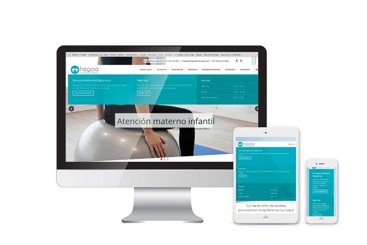 Diseño, desarrollo y posicionamiento SEO para Hegoa Fisioterapia