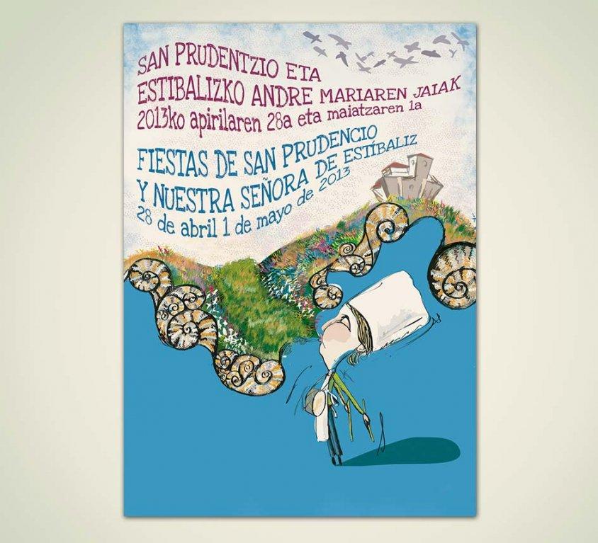 Diseño cartel propuesta Fiestas San Prudencio 2013