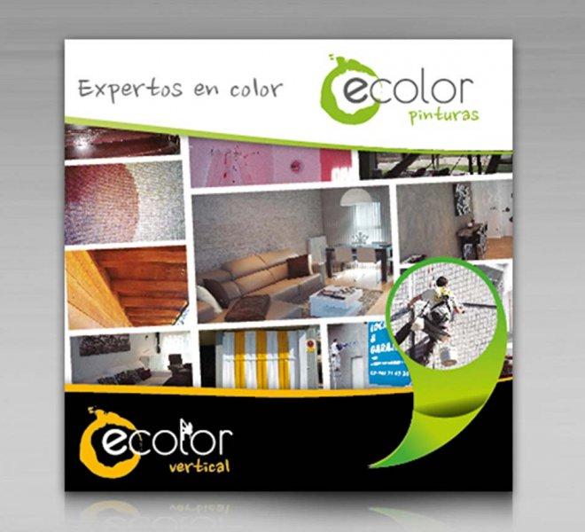 Diseño de díptico Ecolor Pintura