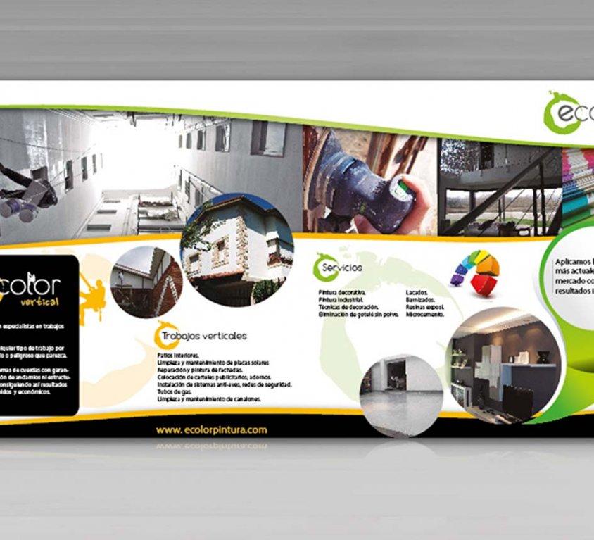 Diseño gráfica publicitaria Ecolor