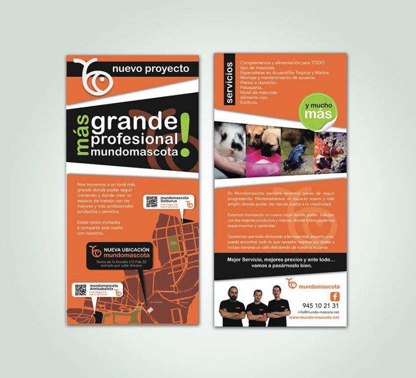 Diseño gráfica publicitaria para Mundomascota