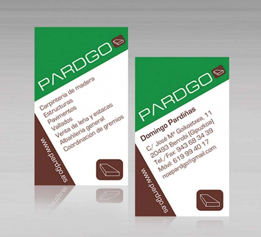 Tarjeta de visita Pardgo