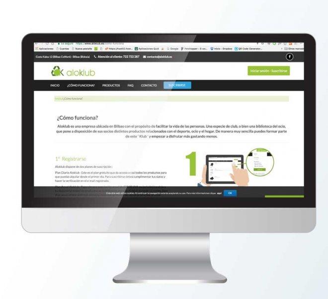 Diseño web aloklub