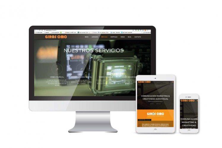 Diseño y desarrollo web corporativa Giros CMC