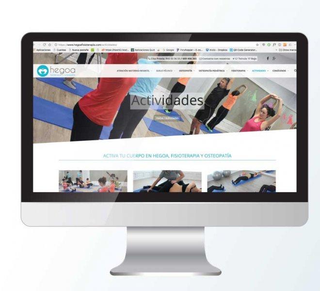 Diseño web hegoa fisioterapia