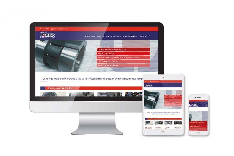 Diseño, desarrollo y posicionamiento SEO web Industrias Loher
