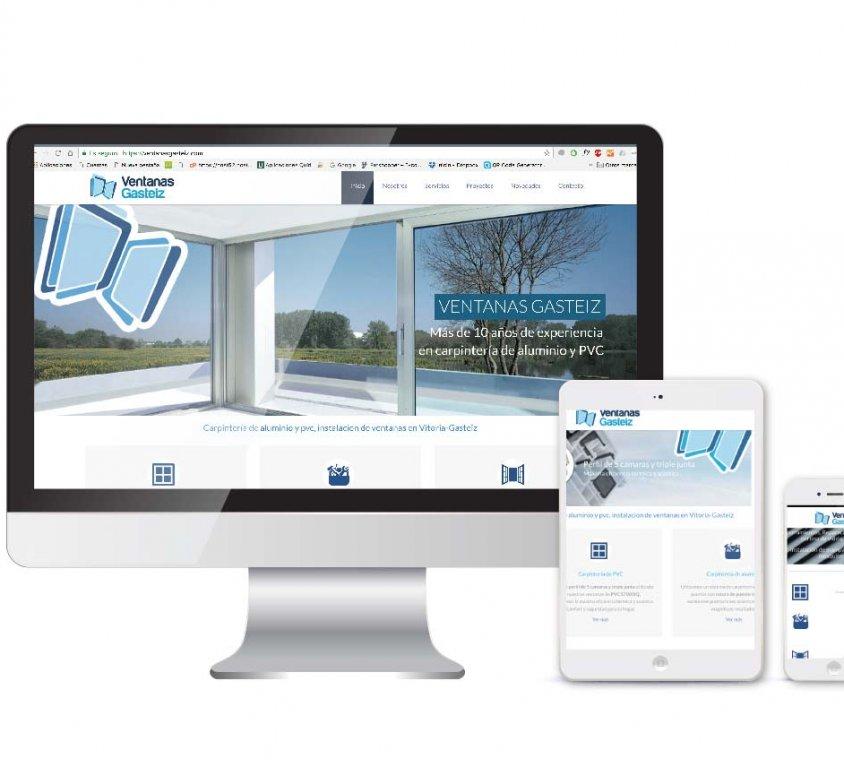 Diseño y desarrollo web Ventanas Gasteiz