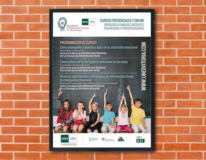 Cartel propocionnal Escuela Inteligencia Emocional de Vitoria-Gasteiz