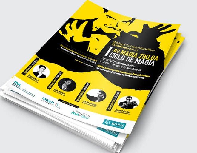 Diseño Cartel I Ciclo de Magia de la Escuela Politécnica de Mondragón