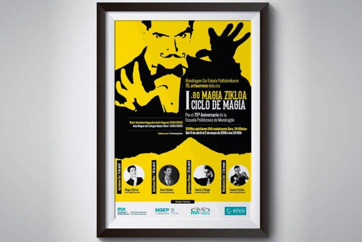 Diseño de cartel I Ciclo de Magia de la Escuela Politécnica de Mondragón