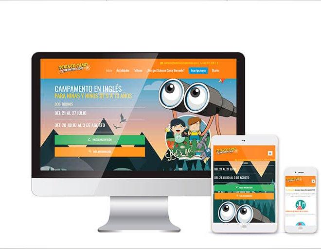 diseño y desarrollo web science camp bernedo