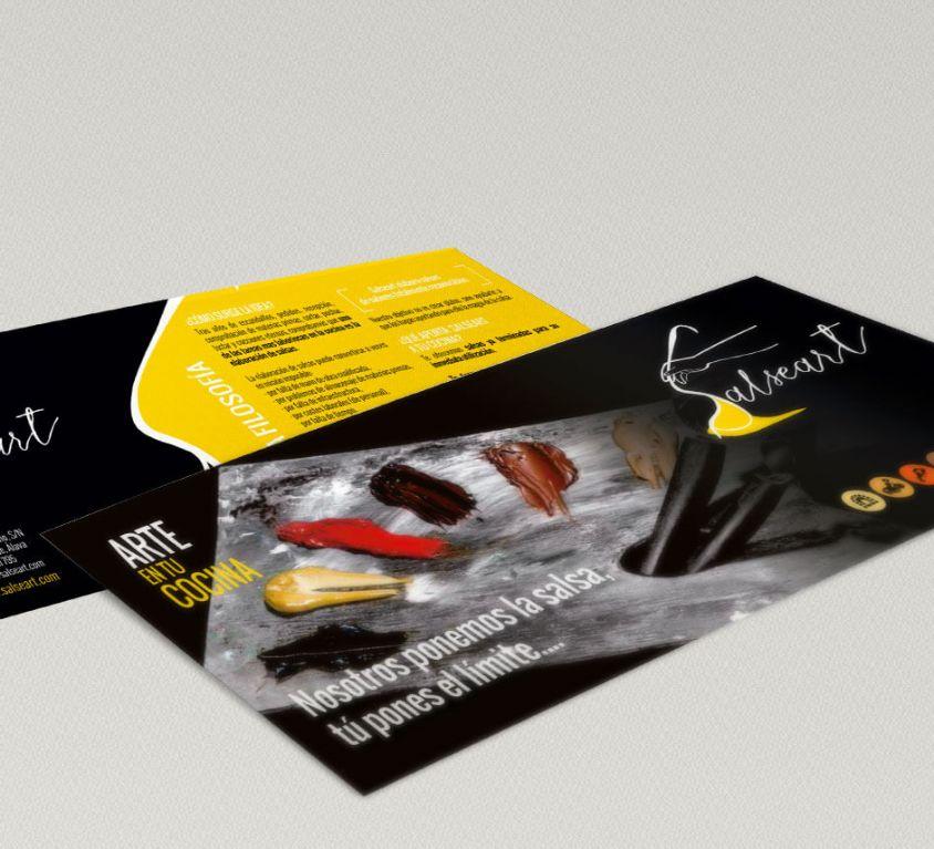Diseño de imagen corporativa y packaging de Salseart