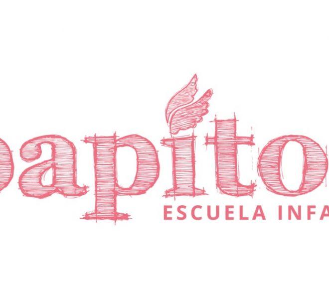 rediseno-logotipo-escuela-infantil-papitos-tinta-plana-la-mamma-creaciones