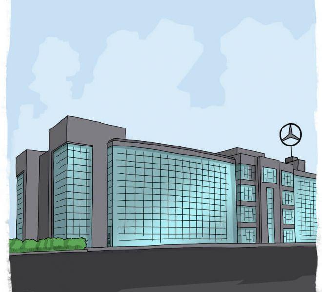 ilustracion-fachada-fabrica-mercedes-vitoria-gasteiz