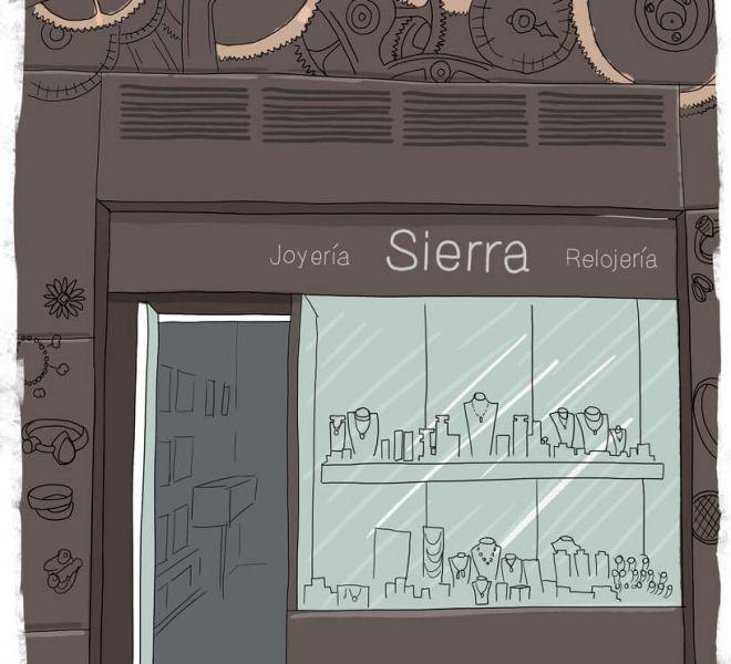 ilustracion-fachada-joyeria-sierra-vitoria-gasteiz